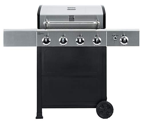 Kenmore PG-40406S0L-AM Outdoor Patio 4 Gas BBQ Propane Grill with Side Burner...