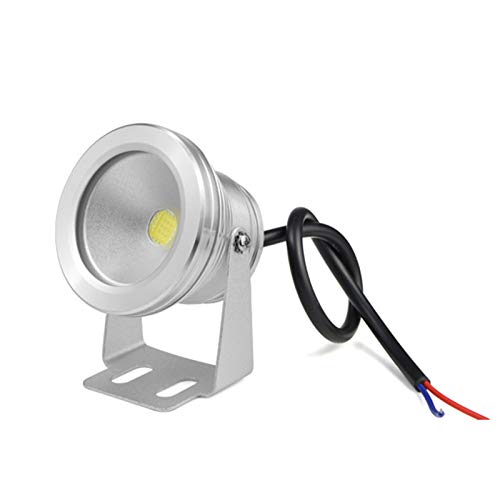 ASPZQ Iluminación LED Subacuática 10W DC 12V-24V 900LM Foco Piscina Lámpara LED Fish Tank Pond Decoración navideña (Color : Warm Light, Size : 10W Silver)