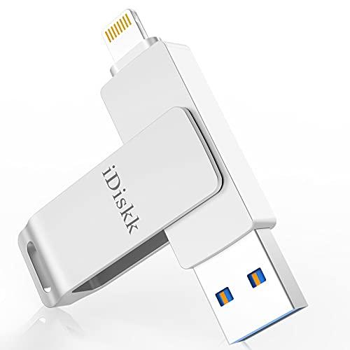 iDiskk USB 3.0 64GB Photo stick per iPhone [Certificato MFi] iPhone Pendrive OTG Memoria per iPad Espansione memoria USB Stick per iPad Computer Mac PC iOS 14