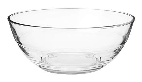 KADAX runde Glasschale, Glasschüssel, Salatschüssel, Schale für Obst, Salat, Dessert, Tiefe Salatschale, Obstschale aus hochqualitativem Glas, Tischdeko, transparent (13,8cm)