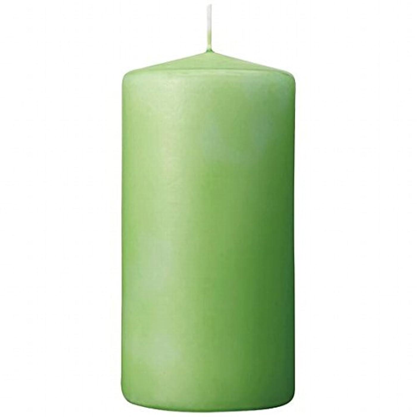 不当ブルーベルリーチカメヤマキャンドル(kameyama candle) 3×6ベルトップピラーキャンドル 「 ライム 」