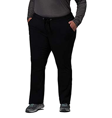 Columbia Women's Anytime Outdoor Plus Size Boot Cut Pant, Black, 24W Regular