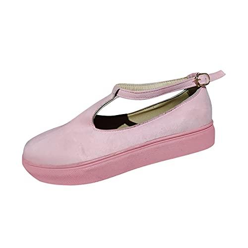 SGAOGEW Pantofole Donna Estive Sandali Donna Da Cerimonia Pantofole Di Lino Donna Sandali Donna Con Tacco E Plateau - 41 Eu, Rosa 3