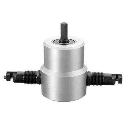 KAIBINY Drill Bit Double Head Sheet Metal Nibbler Cutter Holder Tool Power Drill Attachment Drill Accessories