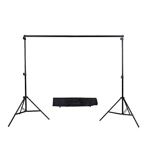 Phot-R 2x2.26m Studio-Hintergrundsystem mit Targetasche, 2x 2m Hintergrundständer und 2.26m tragbares, verstellbares Fotografieset für Papiermuschelbaumwolle Vinyl-Vliesstoff Leinwandhintergründe