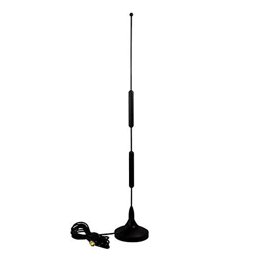 12dBi multi-cuatribanda GSM/UMTS Antena con base magnética, 2.5 M cable y enchufe SMA - para diversos modelos de router UMTS como Huawei B970, B660, B683, teltonika RUT500, RUT900, D-Link DWR-512 y muchos más...