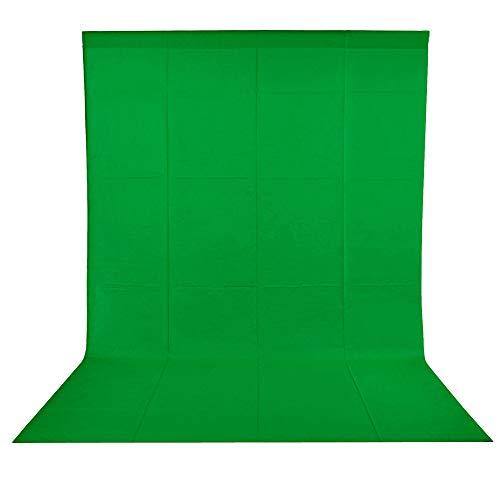 BDDFOTO 1,8 x 2,8m Greenscreen Photo Studio Hintergrund 100% Reiner Baumwolle Muslin Faltbare Grüne Tuch Background für Fotografie, Video und Fernsehen (Wiegt ungefähr 700g)