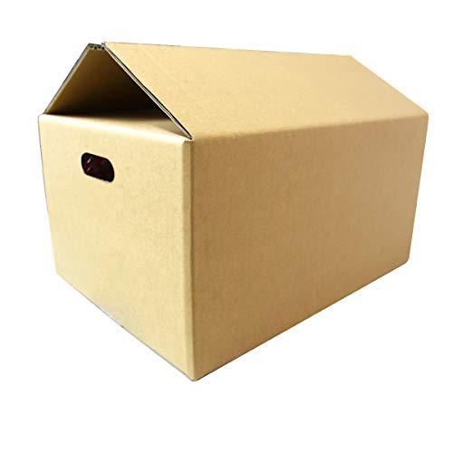 WEIMALL 取っ手穴付き ダンボール 100サイズ 444×324×230 日本製 茶色 引越し 10枚セット