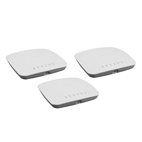 Netgear WAC510B03 WLAN Access Point, 3er Set AC1300 Dual-Band WLAN Speed, bis zu 200 simultane Clients, 1G LAN Port, MU-MIMO, Lokales oder Insight Remote Management, PoE-powered - Netzteil optional
