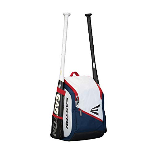 EASTON GAME READY Youth Bat & Equipment Backpack Bag, Red White Blue