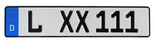KFZ-Kennzeichen EU 480 x 110 mm, reflektierend, Autoschilder mit Wunschkennzeichen