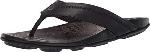 OLUKAI Hiapo Sandals - Men's Lava Rock/Lava Rock 10