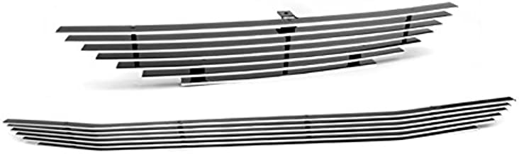 ZMAUTOPARTS Upper + Bumper Billet Grille Grill Insert Combo For 1994-1998 Ford Mustang