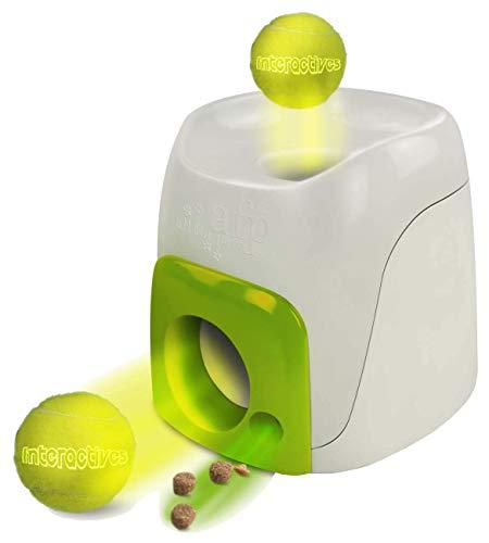 GLX Machine De Boule De Traitement Distributeur Fetch N Treat Jouet Intelligence pour Les Chiens,Vert