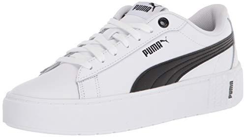 PUMA Women's Smash Sneaker, White Black
