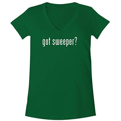 The Town Butler got Sweeper? - A Soft & Comfortable Women's V-Neck T-Shirt, Green, Medium