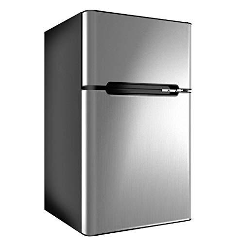 u&h Nevera neverasAcero Inoxidable Nevera congelador del refrigerador del refrigerador Gris de 3.2 pies cúbicos.