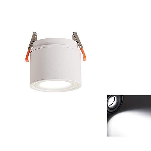 Weiß Rotierende Faltbare Einbaustrahler Nordic Personality Household Kommerzielle Beleuchtung Downlight CRI85 Hohe Farbe COB Deckeneinbauleuchte (Farbe: 6000k-7W)