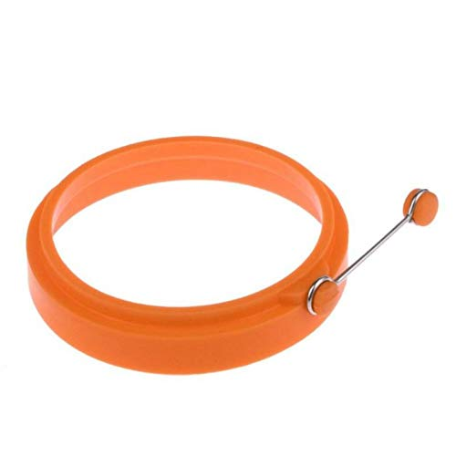 Küchengeräte DIY Frühstück Runde Silikon-Ei-Ring Spiegelei-Form-Pfannkuchen-Ring Non-Stick-Küche Mold (blau) (Farbe : Orange)