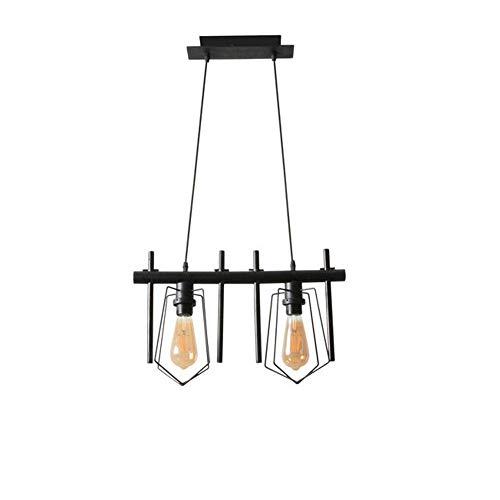 Hanglamp van hout Retro 2 vintage design hanglamp industrieel design licht metaal zwart hanger hanglamp voor kantoor café bar hal balkon eettafel bar bar bar bar bar bar decoratie licht