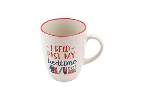 Twintig 'I Read Past My Bedtime' Steengoed Mok | van CGB Giftware's Twintig Leesbereik | GB01022