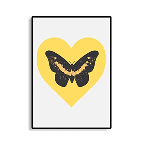 Schmetterling, Herz, lebendige Farben, Wolken, Chillout, Druck-Poster, Study Decor, Damien Hirst, Poster,