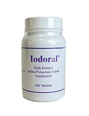 Iodoral High Potency Iodine/Potassium Iodide Supplement 180 Tablets