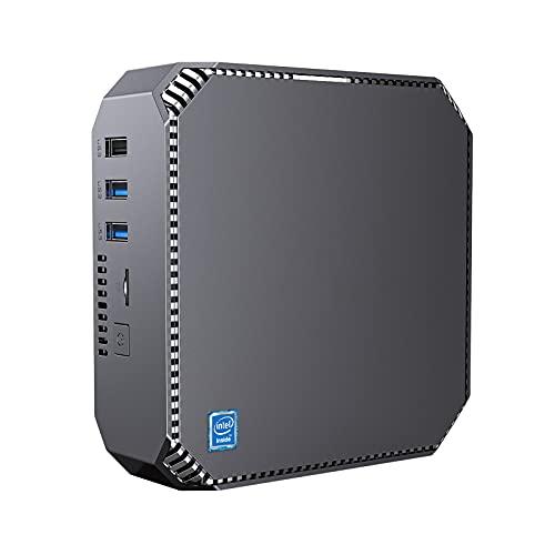 Mini-PC Windows 10, 8GB RAM/ 128GB mSATA SSD, Intel Celeron J3455 Prozessor 4K HD Mini Desktop Computer mit 1000Mbps LAN, Dual Band WLAN, BT 4.2, Zwei HDMI-Ausgängen
