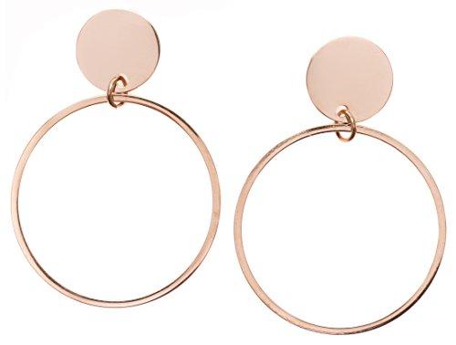 Happiness Boutique Orecchini a Cerchio Oro Rosa | Orecchini Tondi Design Cerchio Aperto