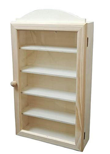 Vitrina colecciones madera. Con 5 baldas para colocar diferentes artí