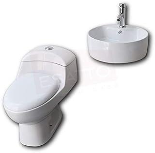 Esatto® Paquete de sanitario inodoro y lavabo cerámico