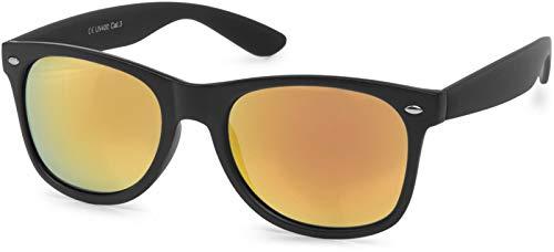 styleBREAKER Gafas de sol Nerd con lentes de espejo o tintadas, diseño...