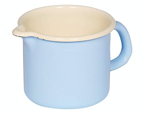 Riess, 0038-006, Schnabeltopf, Classic Bunt/Pastell, 0,5 Liter, Milchtopf, Email,