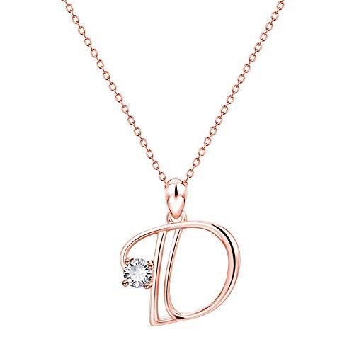 OZhenXiangZh Collar con colgante de letra inicial del alfabeto A a Z, 26 letras, collar con colgante personalizado del alfabeto, collar de aleación del alfabeto para mujeres y niñas