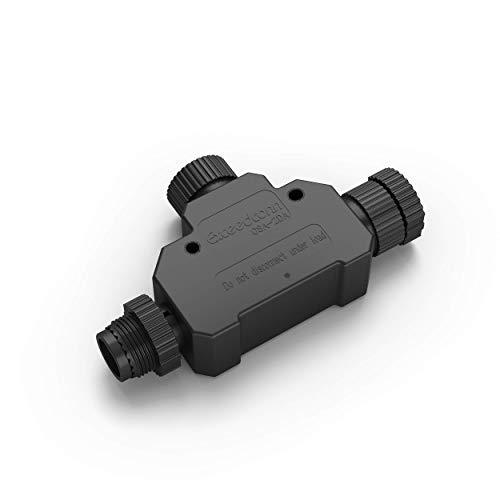 Philips Hue Outdoor T-Stecker, für Hue Niedervolt Außenleuchten, schwarz, 1736930PN