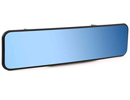 """KITBEST Rear View Mirror, 11.4 Inches Anti Glare Rearview Mirror Convex Panoramic Rearview Mirror Clip on Car Mirror to Reduce Blind Spot and Antiglare for Car SUV Trucks. (11.4"""" L x 2.9"""" H)"""
