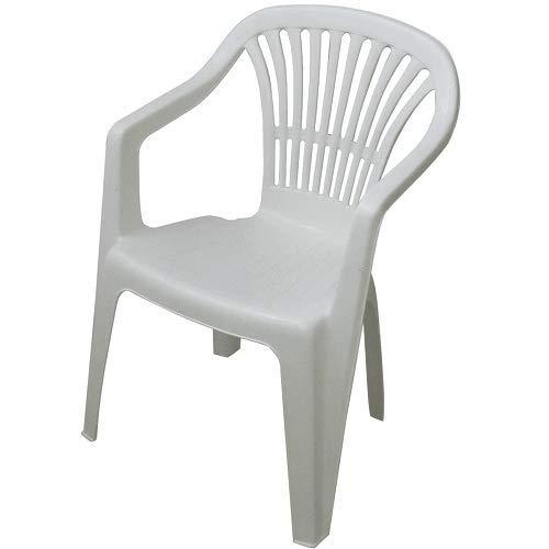 CABLEPELADO Silla plastico apilable (Blanco)