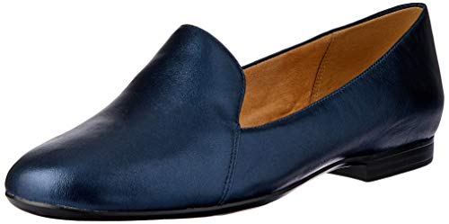 Naturalizer womens Emiline Loafer Flat, Navy, 9.5 Wide US