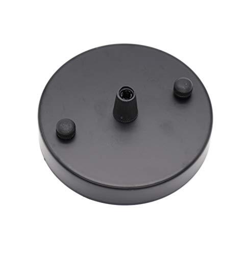 BinifiMux - Juego de 2 lámparas colgantes para placa de techo, color negro, 98 mm x 18 mm con tornillo