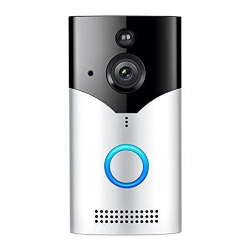 Timbre Casero Con Video, Videollamada En Tiempo Real De Alta Definición De 1080p, Cámara De Seguridad Para Exteriores Con Conexión Inalámbrica WiFi, Con Conversación Bidireccional, Visión Nocturna