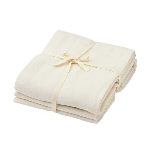 無印良品 綿ポリエステルボイルノンプリーツカーテン・2枚組/生成 幅100×丈176cm用 82595222