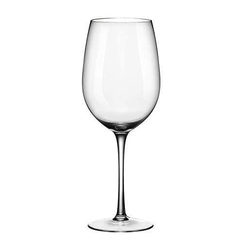 ADMY Weinglas, Rotwein Glas 1 Stück, 530ml Rotweinglas Weißweinglas aus Kristallglas, Transparentes Sektglas Sektkelch, Universalglas Weinkelch Kelchglas als Geschenk für Weihnachten Geburtstag