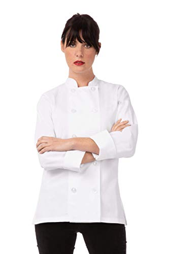 Chef Works mens Le Mans Coat chefs jackets, White, Small US