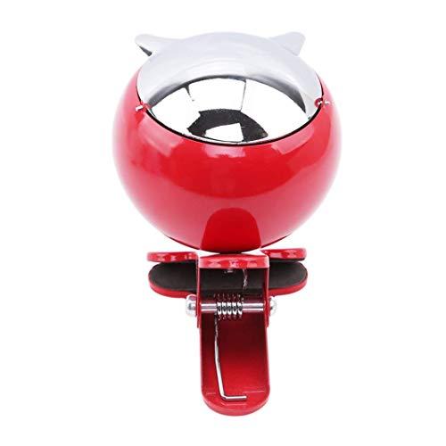 Fliyeong Cenicero de 4 Colores con Tapa de Metal para decoración del hogar, Oficina, Club, Fiesta, Bar, hogar, Color Rojo, Duradero y útil