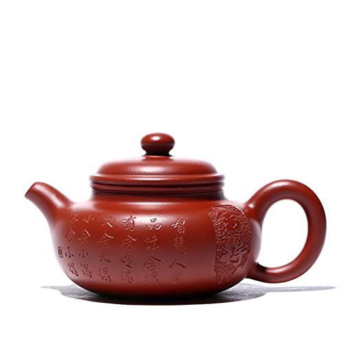 ZHNINGUR 150ml Classic Yixing Teapots Raw Ore Purple Clay Antique Tea Pot Handmade Home Kettle Tea Set