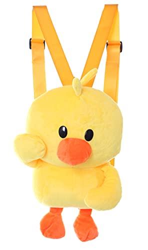 LB-6040 Ente Gelb gefüttert lustig Plüsch Rucksack Damen Tasche Kawaii