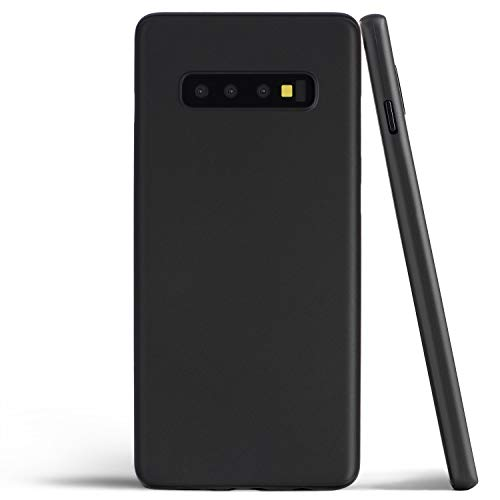totallee Thin Galaxy S10 Plus Case, Thinnest Cover Ultra Slim Minimal - for Samsung Galaxy S10+ (2019) (Solid Black)