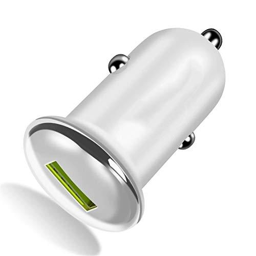QuRRong Cargador Coche Cargador de Coche rápido con Puerto USB Adaptador de Cargador de Viaje de Carga rápida Cargador de teléfono móvil para Cualquier Teléfono Celular