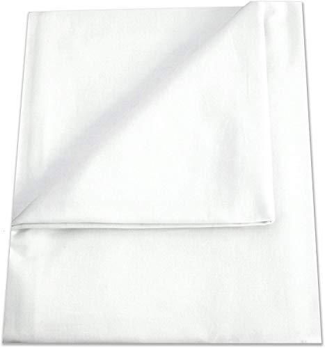 Betttuch/Bettlaken/Haustuch 250x150 cm weiß von Green Mark Textilien® 100% gewebte Baumwolle