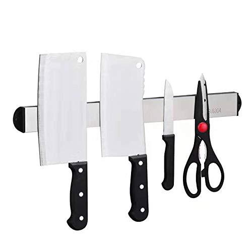 Amumuyx 304 - Barra magnética para colgar cuchillos de cocina y otros utensilios magnéticos de cocina (60 cm)